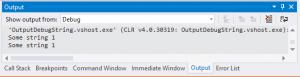 Окно Output в Visual Studio