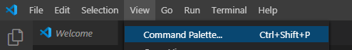 Рис. 1 - VS Code - Command Palette...